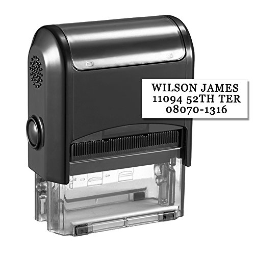 Custom Stamp-Personalized Stamp Self Inking Rubber Stamp,Return Address Stamp with up to 3 Lines of Custom (Personalized Return Address Stamps)
