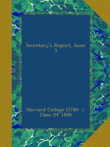 Download Secretary's Report, Issue 3 pdf