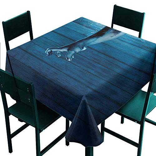 DONEECKL Waterproof Tablecloth Horror House Zombie Hand Television Great for Buffet Table W63 xL63 ()