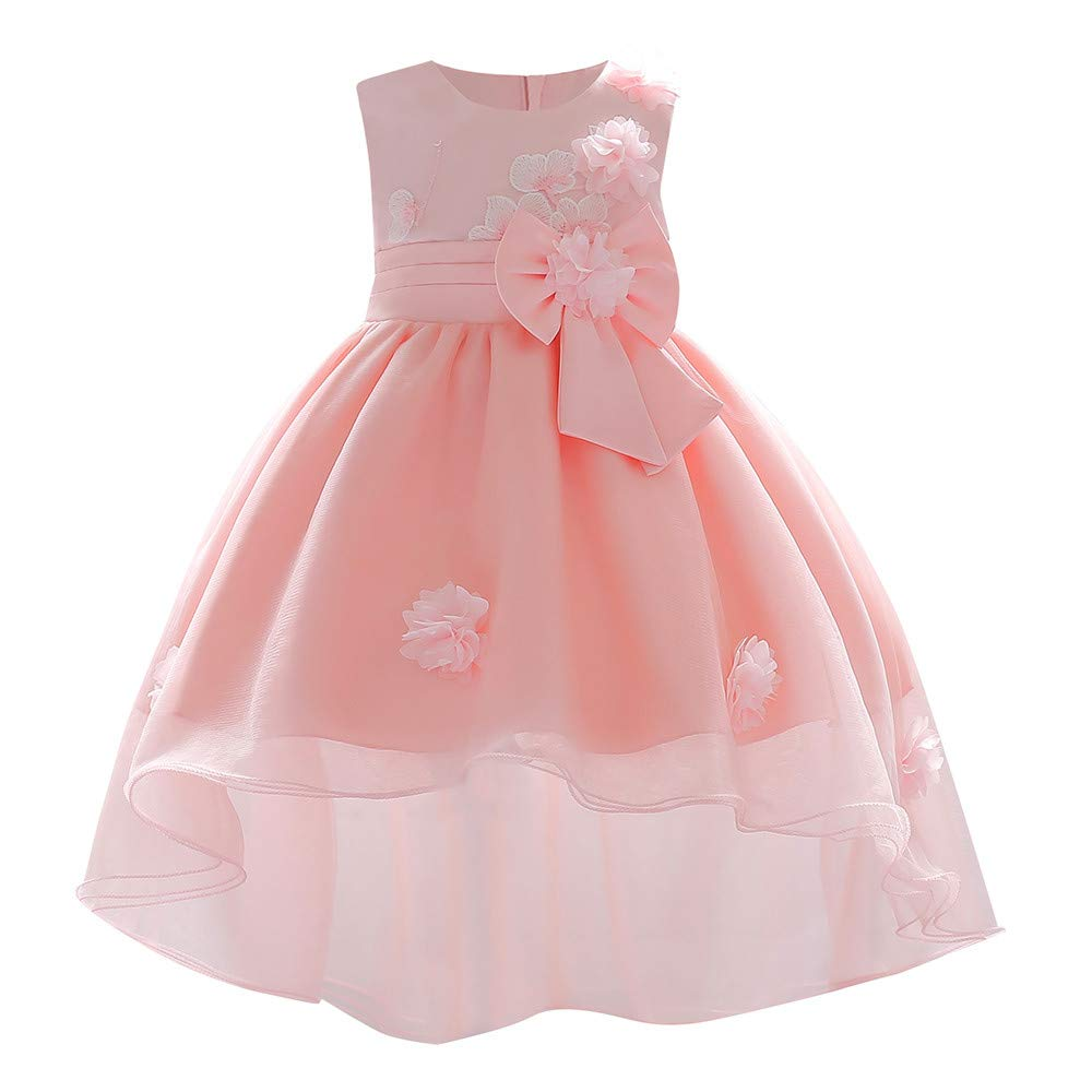 Zerototens Floral Baby Girl Dress Bridesmaid Pageant Gown Birthday Party Wedding Princess Dress Sleeveless Party Dresses Prom Dress Girl Clothes 0-18 Months Baby