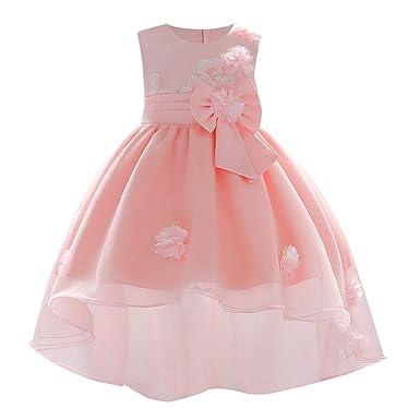 8b412de35f Amazon.com  Infant Baby Girls Princess Wedding Dress 0-18 Months ...