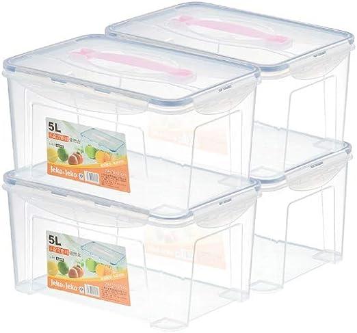 HBBOOI Juego de 4 recipientes for congelar alimentos frescos y ...