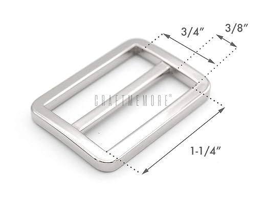 DUHUANG 10pcs Metal Belts Apparel Accessaries Bags Decoration Tri-glide Buckle Backpack Straps Webbing Slider Adjust Buckles