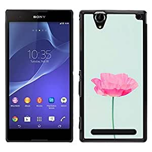 For Sony Xperia T2 Ultra , S-type® Flower Pink Blue Spring Nature - Arte & diseño plástico duro Fundas Cover Cubre Hard Case Cover