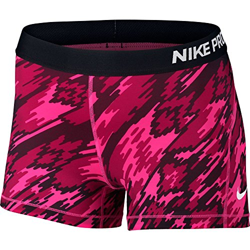 """Nike Womens Pro Cool Overdrive 3"""" Training Shorts Hyper Pink/White 803158-639 Size Small"""
