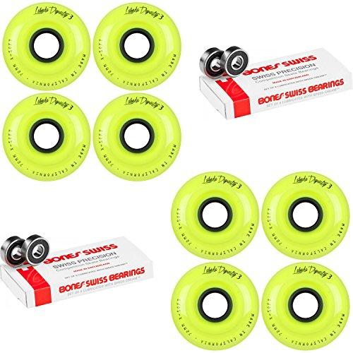 Labeda WHEELS Inline Hockey DYNASTY 3 72mm X-SOFT Yellow 8-Pack Bones Swiss by Labeda