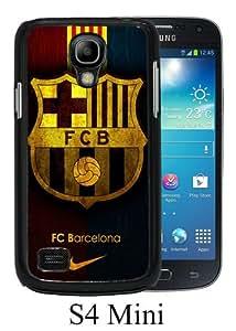 Newest Samsung Galaxy S4 Mini Case ,Fc Barcelona Black Samsung Galaxy S4 Mini Screen Phone Case Popular Fashion And Durable Designed
