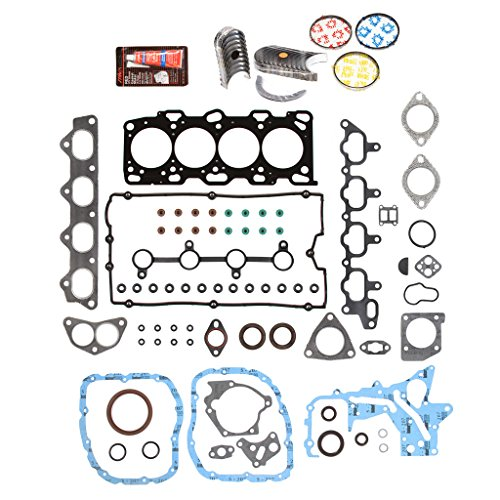 Evergreen Engine Rering Kit FSBRR6025EVE\0\0\0 99-05 Kia Hyundai 2.4 DOHC G4JS Full Gasket Set, Standard Size Main Rod Bearings, Standard Size Piston (Full Set Housing)
