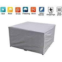 AMDHZ Garden Furniture Cover Drawstring Design Outdoor Tarpaulin Set Patio Table and Chair Barbecue, 24 Sizes (Color…