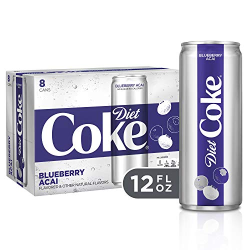 Diet Coke Blueberry Acai Soft Drink, 12 fl oz (Pack of 8) (Flavored Pepsi)