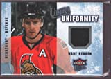 WADE REDDEN 2008-09 FLEER ULTRA GAME USED WORN JERSEY PATCH SENATORS $15