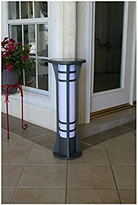 YardBright Premium Column Solar Bollard Light By