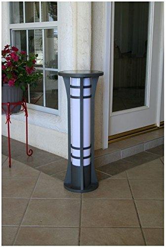YardBright Premium Column Solar Bollard Light By