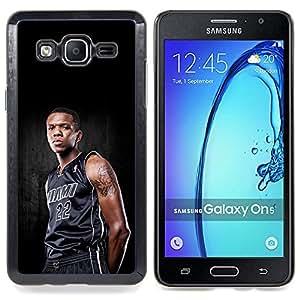 """Qstar Arte & diseño plástico duro Fundas Cover Cubre Hard Case Cover para Samsung Galaxy On5 O5 (Miami 22 Baloncesto"""")"""