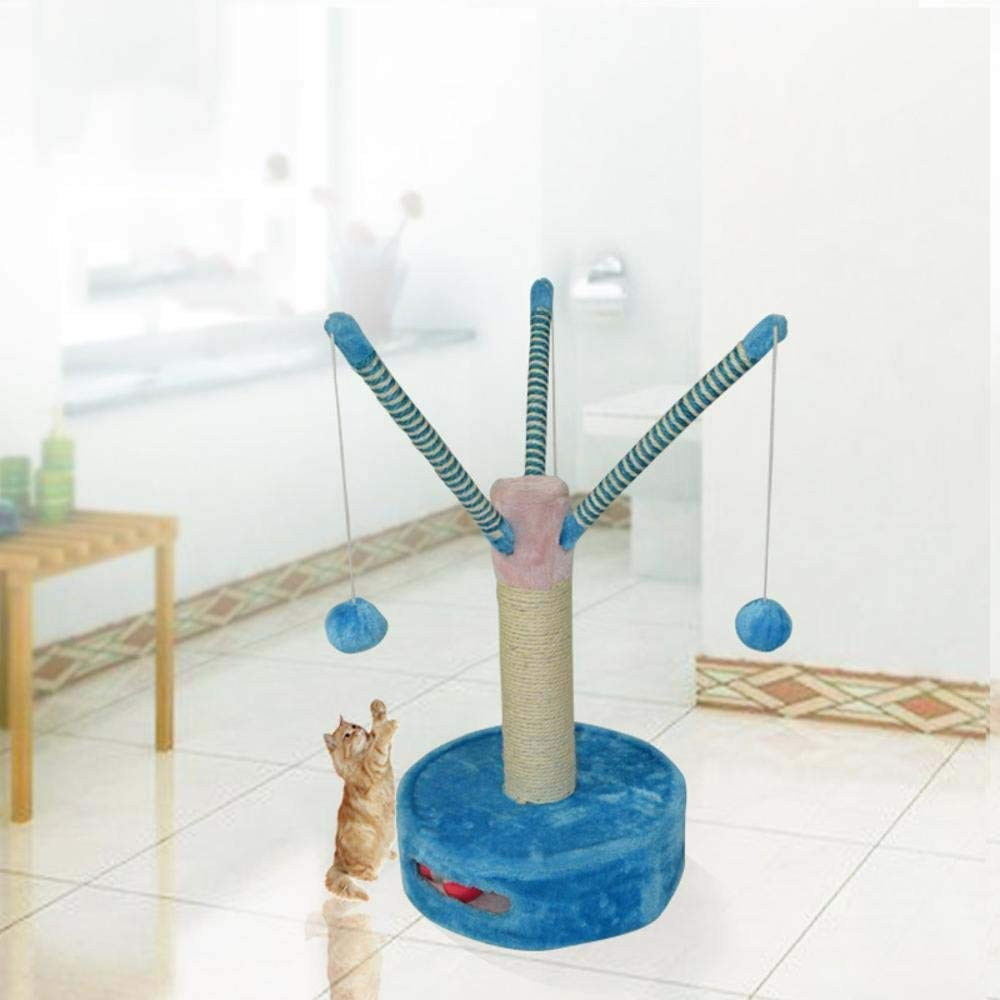 Beige Cat Furniture Play Towers and Trees Natural sisal Cat Climbing Frame cat Tree cat Scratch Board Tease Cat Toy 35cm 37cm  62cm (color   Beige)