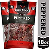 Jack Link's Beef Jerky, Peppered, (2) 9 oz. Bags – Flavorful Everyday Snack with a Pepper Kick, 10g of Protein and 80 Calories, Made with 100% Premium Beef - 96% Fat Free, No Added MSG