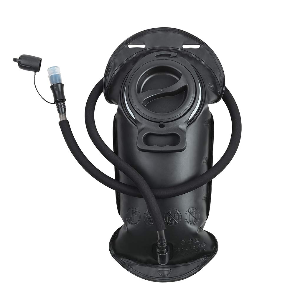 ROCKRAIN Hydration Bladder 2 Liter FDA Approved BPA Free Leak Proof Water Reservoir Large Opening & Easy Clean Hands-Free Hydration Pack Replacement for Running Hiking Biking Cycling