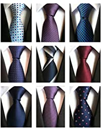 Classic Men's Neckties 6&9 PCS Woven Jacquard Neck Ties