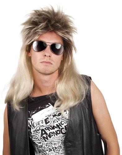 Boland 86060 - Perücke Pop Rock Ryan Vokuhila Langhaar, blond/braun