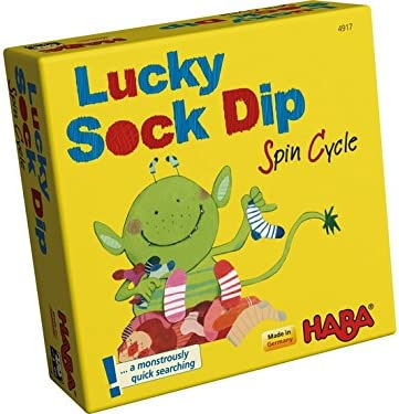 Haba Lucky Sock Dip Spin Cycle Game, Multi Color