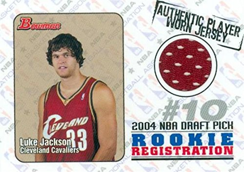 - Luke Jackson player worn jersey patch basketball card (Cleveland Cavaliers) 2004 Bowman Rookie Sensations Draft Pick #RORLJ