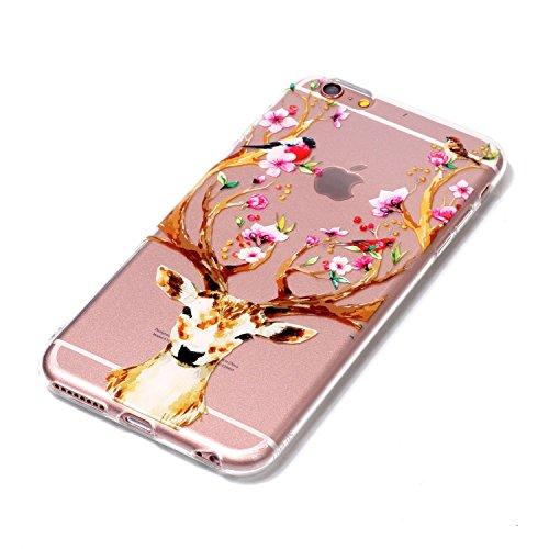 iPhone 6 6S Coque cerfs communs Premium Gel TPU Souple Silicone Transparent Clair Bumper Protection Housse Arrière Étui Pour Apple iPhone 6 6S + Deux cadeau