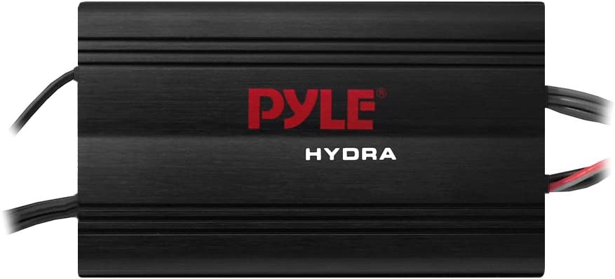 Amazon.com: Pyle Hydra Marine Amplifier - Upgraded Elite Series 800 Watt 4  Channel Micro Amplifier - Waterproof, GAIN Level Controls, RCA Stereo  Input, 3.5mm Jack, MP3 & Volume Control (PLMRMP3B): Car Electronics | Pyle Hydra Amp Wiring Schematic |  | Amazon.com