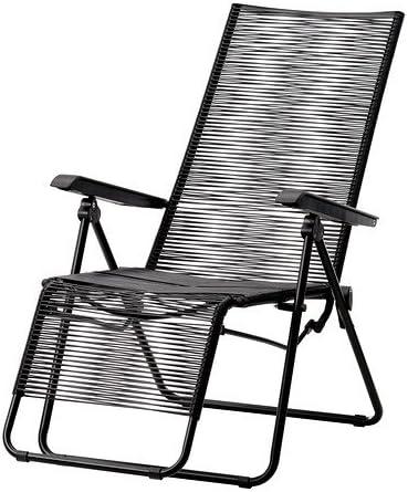 IKEA VASMAN - Tumbona, al aire libre, negro: Amazon.es: Hogar