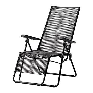 Ikea Vasman Chaise Longue Exterieur Noir Amazon Fr Cuisine