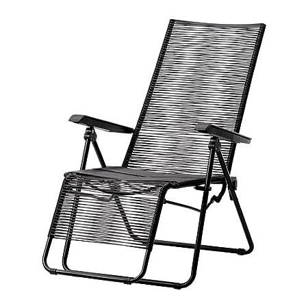 Captivating Ikea VASMAN   Deck Chair, Outdoor, Black