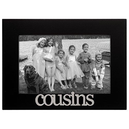 Malden International Designs Cousins Expressions Picture Frame, 4x6, Black