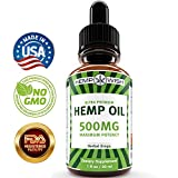 Hemp Oil Extract - Pain, Anxiety & Stress Relief - 500mg of Natural Full Spectrum Hemp Extract - Grown & Made in USA - Advanced Formula - Anti-Inflammatory & Joint Support - Rich in Omega 3, 6 & 9