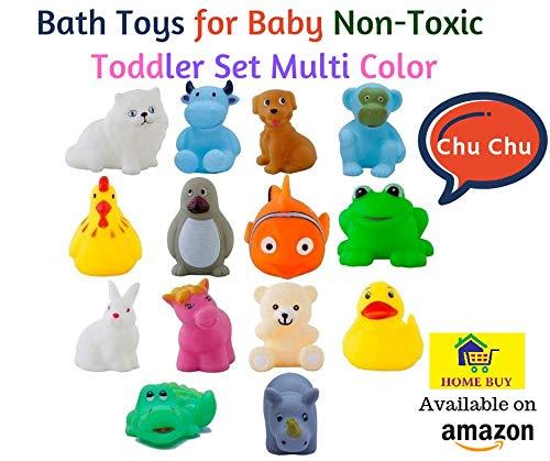 HOME BUY Chu Chu Bath Toys for Baby Non-Toxic Toddler Set Multi Color (1 Set - 12 Pcs) product image