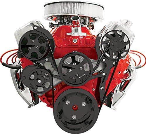 Nueva Billet Specialties tru-trac negro Big Block Chevy frontal ...