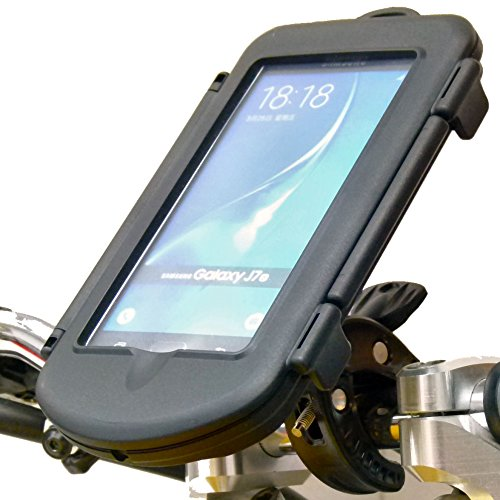 K-Tech Waterproof Motorcycle Bike Handlebar Clamp Mount for Samsung Galaxy J7