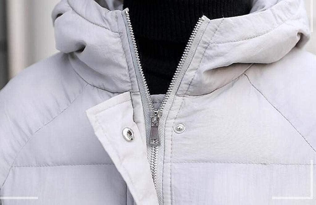 Jotebriyo Mens Longline Winter Parka Warm Hooded Down Quilted Puffer Jacket Coat Outerwear