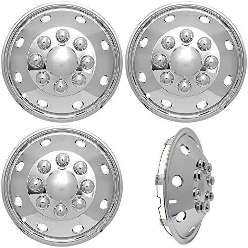 ors 16-inch (Set of 4) 16in Dually Wheels Simulator - Truck Accessories Best for Pick-up Trucks Vans RV Hub Caps Rim Parts ABS Plastic Skin Cover - Universal Fits 8 Lug, 8 Hole ()