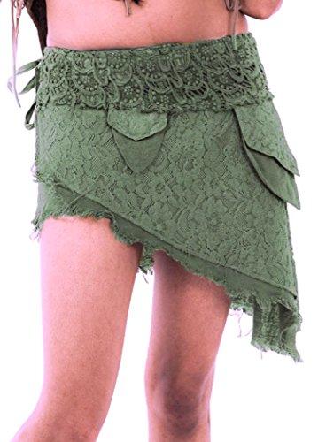 Gekko - Falda - Asimétrico - para mujer Verde