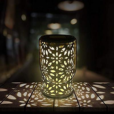 RenFox LED Solar Lantern Farol Solar para Exteriores, IP44 ...