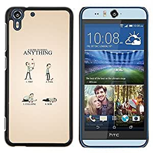 Jordan Colourful Shop - Funny Guide For HTC Desire EYE M910x Personalizado negro cubierta de la caja de pl????stico