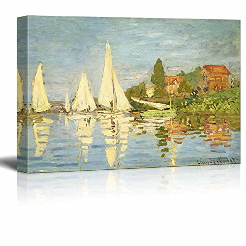 Regattas at Argenteuil by Claude Monet Print Famous Painting Reproduction