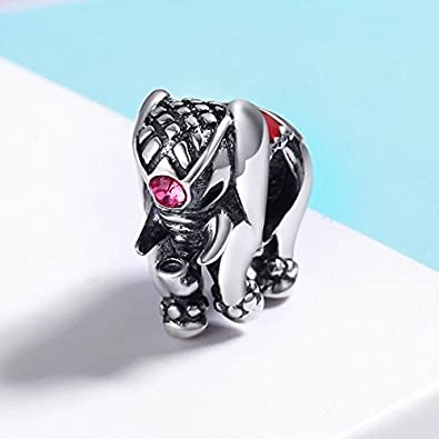 The Kiss Symbol of Good Luck Clover Animal Lucky Elephant 925 Sterling Silver Bead Fits European Charm Bracelet