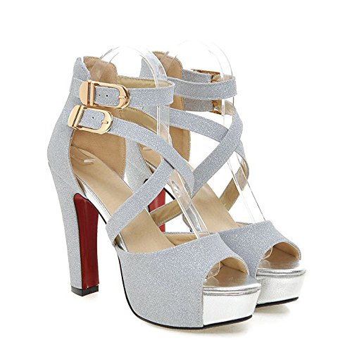 Ecletta Da Donna Con Cinturino Alla Caviglia Per La Sera Festa In Oro Con Tacco Alto E Sandali Glitterati