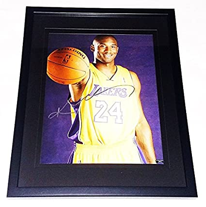 4f87a95336e AUTOGRAPHED Kobe Bryant #24 Los Angeles Lakers Basketball 5X NBA CHAMPION Rare  Signed Picture 15X19 Inch Black Frame with 11X14 Inch Photo & COA at  Amazon's ...