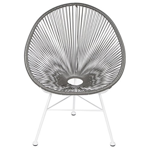 Acapulco Lounge Chair - Grey on White