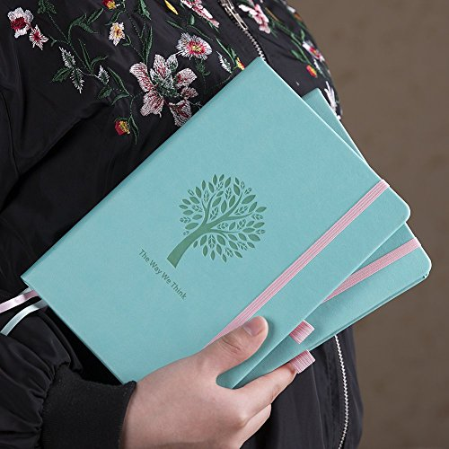 Bullet Journal - Lemome Dotted Numbered Pages Hardcover A5 Notebook with Pen Holder + Premium Thick Paper + Bonus Gifts Back to School Supplies (Mint Green) Photo #4