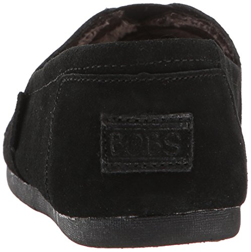 Skechers Flat Slip Fashion Women's BOBS Black Cutout On from Luxe wHqF6xwr