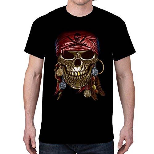 Men's PIRATE SKULL Black T-Shirt