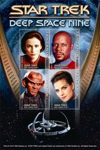 Tanzania Star Trek 50th Anniversary- Deep Space Nine, Collectible Postage Stamps