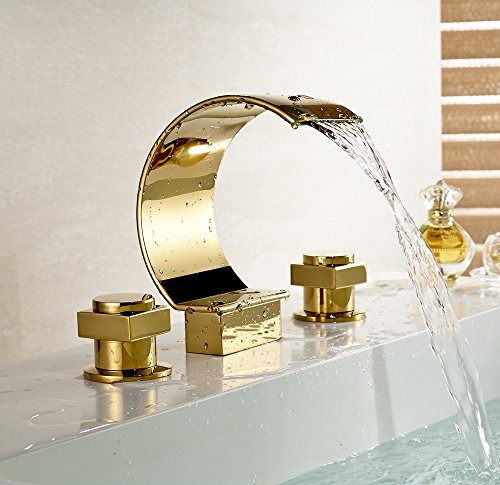 gold bathroom sink faucet - 9